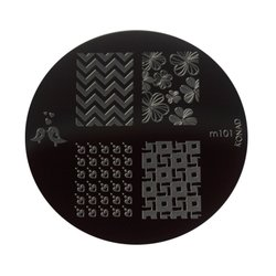 Диск-трафарет для стемпинга KONAD №m101, металл