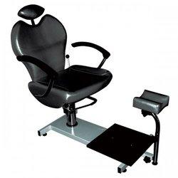 Педикюрное кресло Top Jetta с подножкой, черный (8915002TOP S)