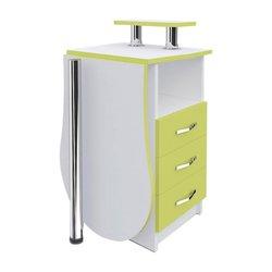 """Маникюрный стол-трансформер  """"Естет компакт №2"""" MAX, белый с желтым"""