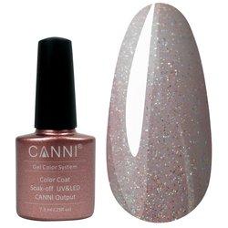 Гель-лак Canni №199, 7,3 мл, розово-персиковый с голографическим микроблеском