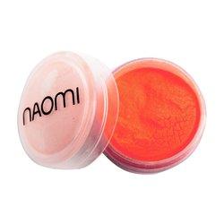 Акриловая пудра Naomi №5 - ярко-коралловый неон, 3 г