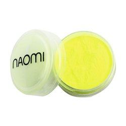 Акриловая пудра Naomi №3 - кислотно-желтый неон, 3 г