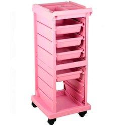 Тележка парикмахерская T-100X (001655) - розовый