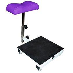 Тренога Квадрат для педикюра (000292) с стеллажом для ванночки - фиолетовый