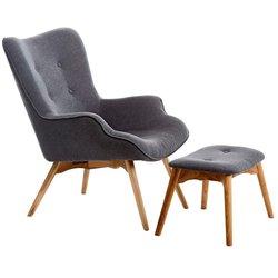 Педикюрное кресло EJERSLEV (АРТ - 3616740Ю) с подставкой для ног - серый