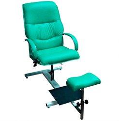 Педикюрное кресло Версаль (001464) стеллаж, газлифт, качание - зеленый