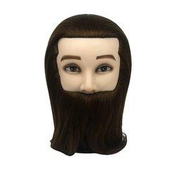 Учебная голова для парикмахера YRE Boy коричневый 46 см