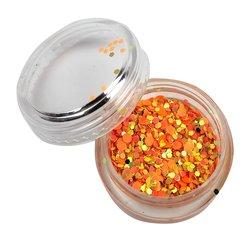 Декор брокат оранжевый-золото