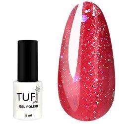 Гель-лак TUFI Profi №50 - светло-вишневый с блестками, 8 мл