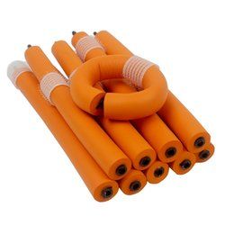 Бигуди-папильотки с липучкой - оранжевый, 20х180 мм (300204)