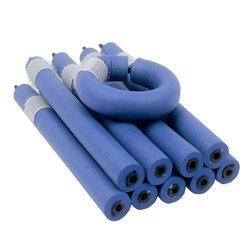 Бигуди-папильотки с липучкой - голубые, 12х180 мм (300200)