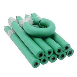 Бигуди-папильотки с липучкой - зеленый, 16х180 мм (300202)