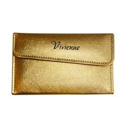 Пенал раскладной Vivienne с магнитной кнопкой на 4 пинцета, бронзовый