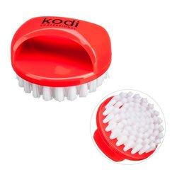 Щетка KODI круглая с ручкой для ногтей от пыли - красная (20059026)