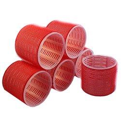 Бигуди липучки YRE 66 мм - красный, 6 шт