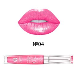 Блеск для губ, Bourjois Effet 3D Concentre Volume&Brillance 8h №04 — Rose polemic (P0000001048)