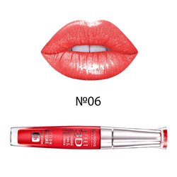 Блеск для губ, Bourjois Effet 3D Concentre Volume&Brillance 8h №06 - Rouge democratic (P0000001050)