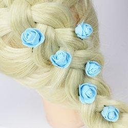 Цветы из фоамирана - голубой