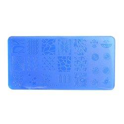 Пластина-трафарет для стемпинга YRE XY-L07 пластик, синий