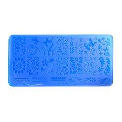 Пластина-трафарет для стемпинга YRE XY-L11 пластик, синий