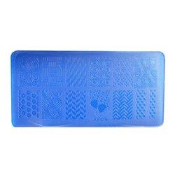 Пластина-трафарет для стемпинга YRE XY-L14 пластик, синий