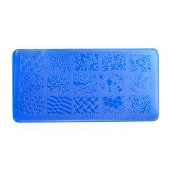 Пластина-трафарет для стемпинга YRE XY-L15 пластик, синий