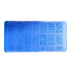 Пластина-трафарет для стемпинга YRE XY-L16 пластик, синий