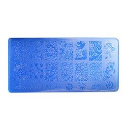 Пластина-трафарет для стемпинга YRE XY-L25 пластик, синий