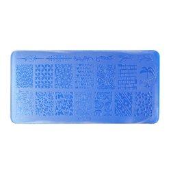 Пластина-трафарет для стемпинга YRE XY-L30 пластик, синий
