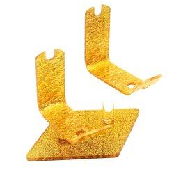 Подставка для ножниц 2-х пар YRE, золотистый