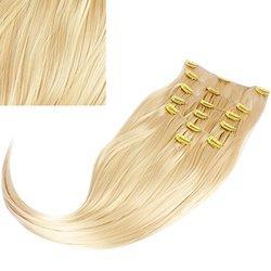 Волосы на заколках, Diamond 222+15 см color 613, 8 прядей, 45-47 см