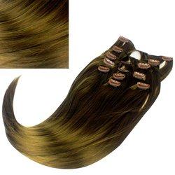 Волосы на заколках Diamond 222+15 см color 12, 8 прядей, 45-47 см