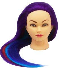 Учебная голова для причесок, манекен тренировочный для парикмахера YRE Girl, 60 см (фиолетовый)