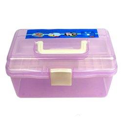 Контейнер для хранения инструментов YRE со сьемным отделением,  маленький фиолетовый