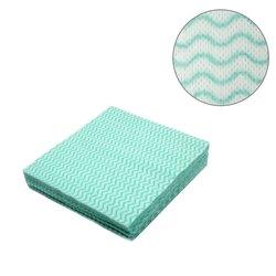 Салфетки одноразовые косметические - волна, 10х10 (100 шт)