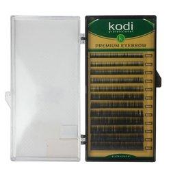 Брови Kodi натуральный завиток - черный, 0,12 12 рядов: 4-2, 5-3, 6-3, 7-2,8-2 (20027964)
