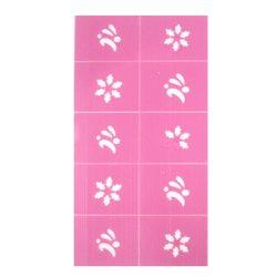 Трафарет для ногтей в ассортименте - цветы