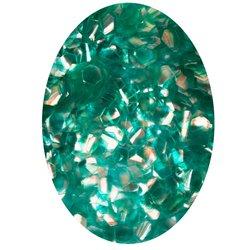 Декор в баночке блестки шестигранник, зеленый перламутр