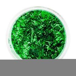 Стружка для ногтей, Starlet - зеленая с блеском