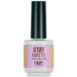 NUB Stay Matte - верхнее покрытие для лака матовое, 15 мл