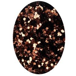 Декор в баночке блестки шестигранник STARLET, коричневый