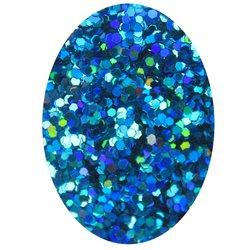 Декор в баночке блестки шестигранник STARLET, синий