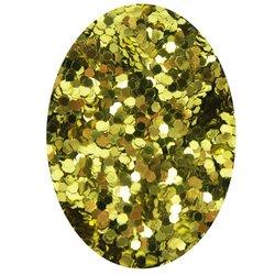 Декор в баночке блестки шестигранник STARLET, золото