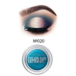 Тени для век Мейбелин (Maybelline) COLOR TATOO 24Ч №20 - turquoise forever, 4 г, (Гюю12022353)