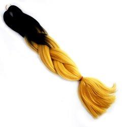 Волосы Kanekalon (t) two Viola MC25 - омбре черный-золотой
