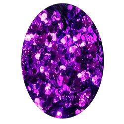 Декор фольга шестигранник в баночке - фиолетовый