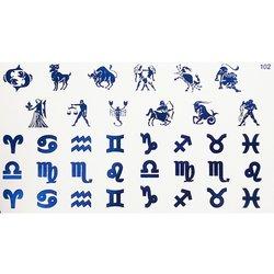 Слайдер дизайн №102 - синий (фольгированный)