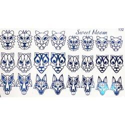 Слайдер дизайн №132 - синий (фольгированный)