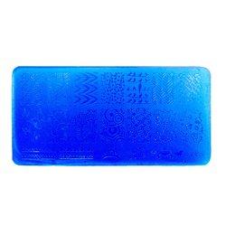 Пластина для стемпинга YRE XY-L28 пластик, синий