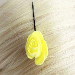 Невидимка, фоамиран цветок - желтый, 2,5см, 1 шт